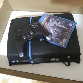 ps4 cake - Cake by WitchyCaker