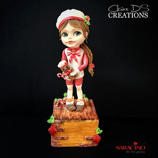 The little Pastry Girl of Christmas - Cake by Claire DS CREATIONS
