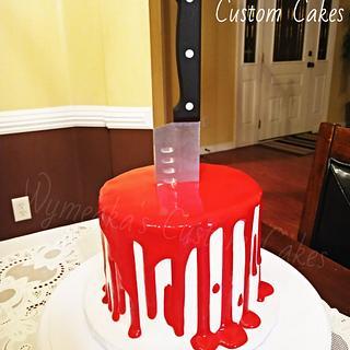 Halloween stab cake