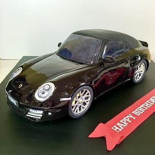 Porsche 997 turbo 2 3D cake