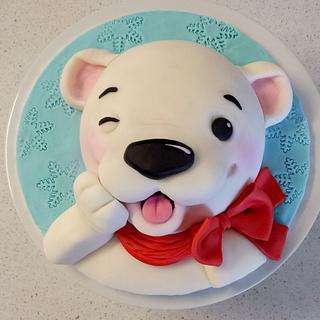 Christmas Polar Bear cake