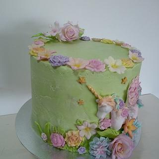 Unicorn cake / tarta de Unicornio