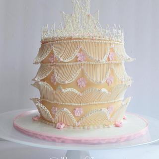 Royal icing String Cake