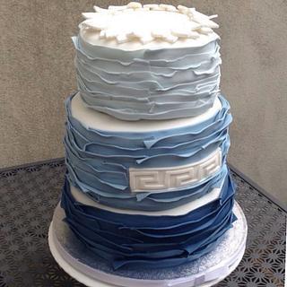 Greek Holiday - Cake by Sugar by Rachel