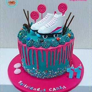 Skates drip cake - Cake by Gele's Cookies