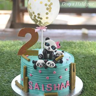 Panda cake - Cake by Divya Haldipur