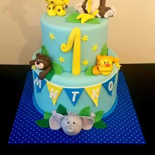 Birthday boy cake