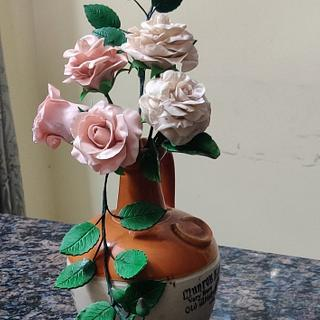 Roses - Cake by Dr RB.Sudha