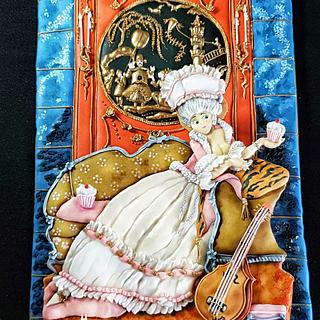 Marie Antoinette - The Royal - An International Cake Challenge - Cake by The Cookie Lab  by Marta Torres