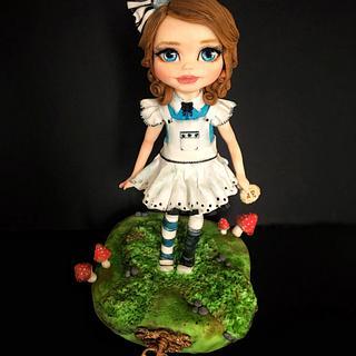 Baby Alice in wonderland topper