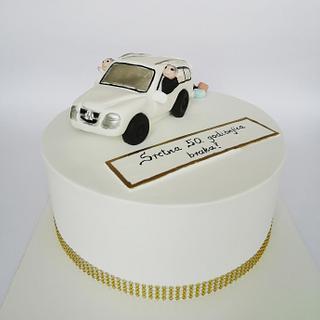 Gold anniversary cake  - Cake by Tortebymirjana