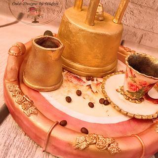 Coffee set cake