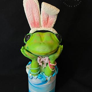 Spring Frog- Fancy Frog Cake Collaboration - Cake by Cristina Arévalo- The Art Cake Experience
