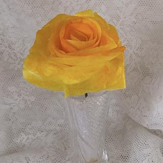"""Wafer Paper Rose - Cake by June (""""Clarky's Cakes"""")"""