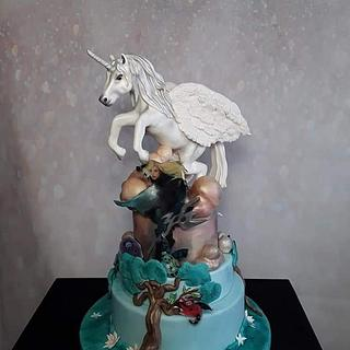 Pegasus cake, gardian of the Lost cities - Cake by Céline Dachicourt, Saveur d'un Reve