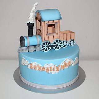 cake with train for Sebastianko