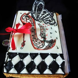 Cookie booklet with birthday wishes.. - Cake by Delicious Temptations 4U