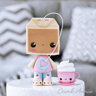 Cute Tea & Coffee Cake Topper