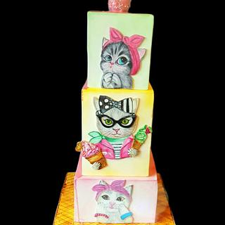 Cute Cats - Cake by Gena