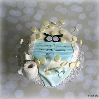 Brian's 30th birthday corona virus cake