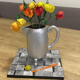 Tulips - Cake by Rhona
