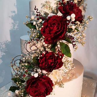 Захарни цветя. - Cake by Нели Христова