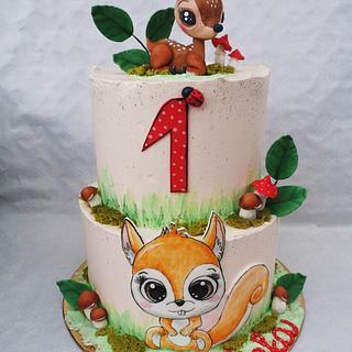 Woodland cake - Cake by Veronika