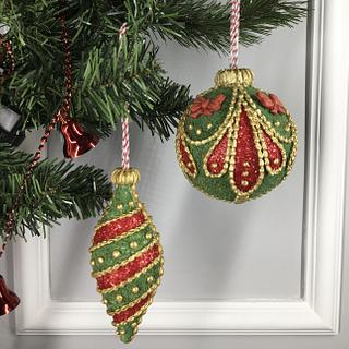 3D Christmas ornaments cookies