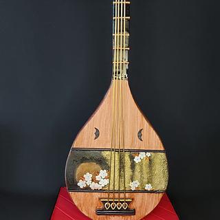 """Biwa"" Japanese musical instrument  - Cake by Sugar Art by Linda"
