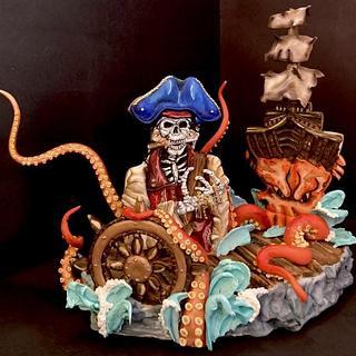 Pirata fantasma  - Cake by Yazmin Rodríguez Lemus