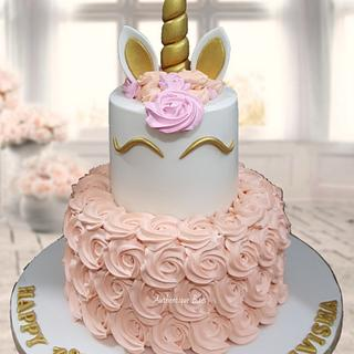 Unicorn Cake in Cream