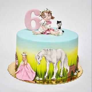 Cake for little girl