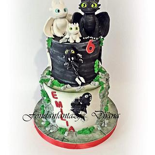 Dragon themed cake - Cake by Fondantfantasy