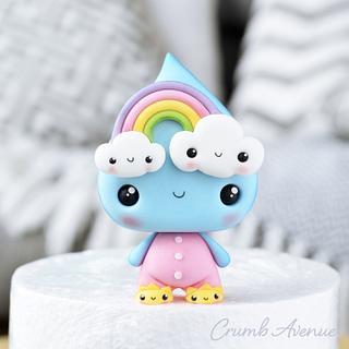 Raindrop & Rainbow Cake Topper ;)