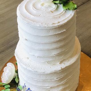 Backyard wedding cake