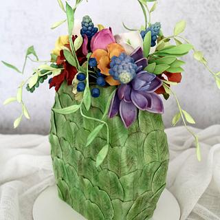 Bag of flowers - Cake by tomima