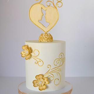 Elegant Wedding Cake - Cake by Cake Creations by ME - Mayra Estrada