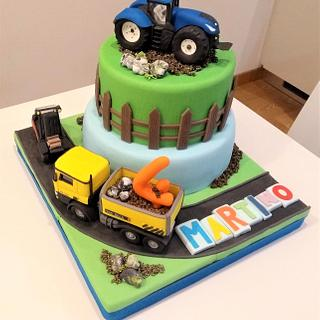 tractor cake - Cake by Clara