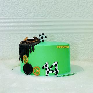 Football &chocolate cake