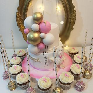 Bear ballons cake