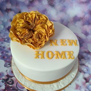 New home cake.