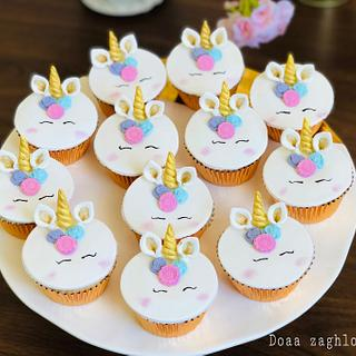 Unicorn cup cake by Doaa zaghloul