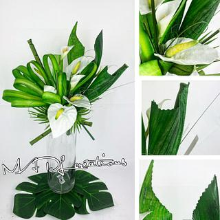 Wafer paper ikebana
