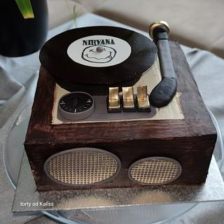 Old gramophone for birthday - Cake by Kaliss