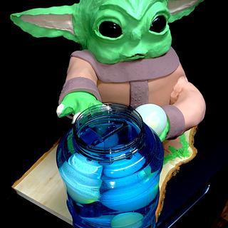 Grogu - Baby Yoda - Cake by Sharp Sweets