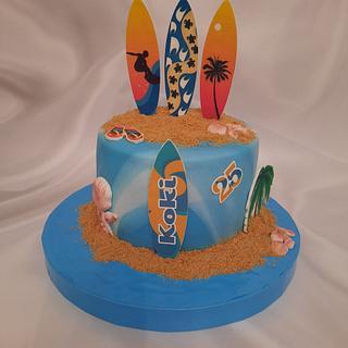 """Sea surfing cake"""