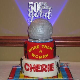 Cherie's 50th Disco Cake