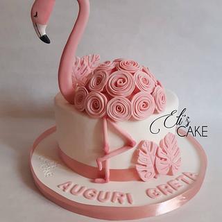 Flamingo Cake - Cake by Elisabetta Pepe