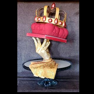 Chocolate sculpture cake
