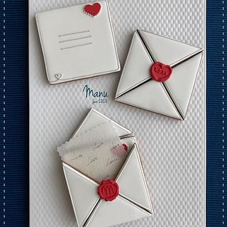 Love Letters and Royal Icing Wax Seals - Cake by Manu biscotti decorati